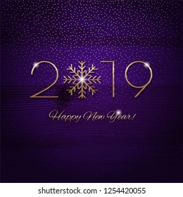 This is a festive New Year design with a golden 