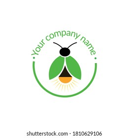 This is firefly logo, used for company, basically its colour is green and used for insect company.