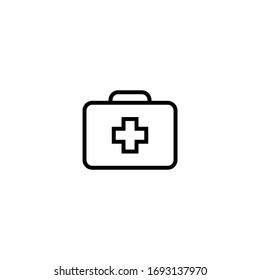 This First Aid Box icon is in Line style available to download as EPS 10