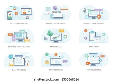 This flat concept illustration pack consisting of wide range of business and finance vectors. This set can be used in graphic designing and other related projects, hold this pack.