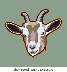 This goat face is a high-resolution logo mascot. With the design of a nice goat face makes this logo very attractive. This logo is more suitable to be applied to the sport or e-sport logo