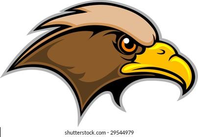 This is a Hawk Mascot Logo