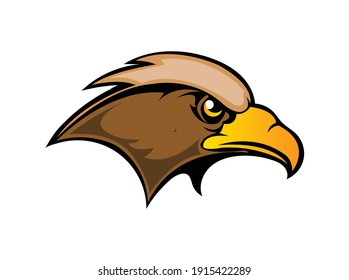 This is a hawk mascot for use with a sports team or organization s symbol or logo.