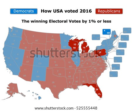 This How USA Voted 2016 Presidential Stock Vector (Royalty Free ...