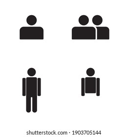 This is a human icon that I made in the form of a silhouette illustration. there is a full body icon, half body, and some are in pairs. I hope you like it, thanks.