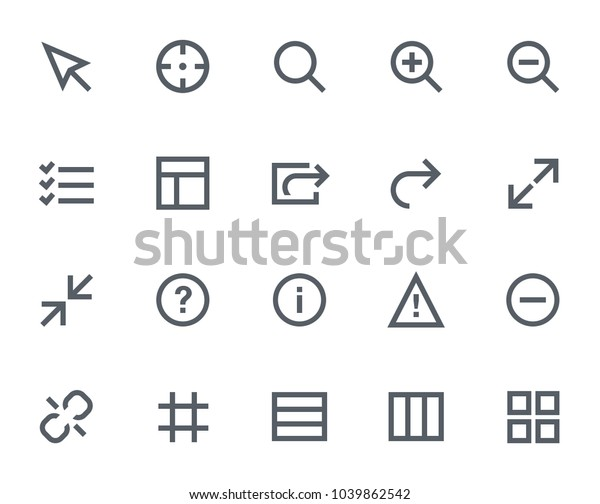 This Icon Set Bold Outline Style Stock Vector (Royalty Free) 1039862542