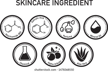 This icon set suitable for skincare or cosmetic, used for website, landing page, header, presentation, etc.