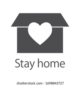 This is the icon of stay home and stay safe.
