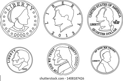This is an illustration of cent coin set.