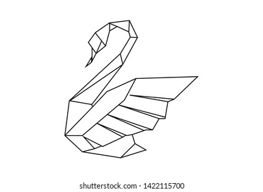 This is an illustration of a charming origami goose. This vector is usable for background t-shirt designs, posters, brochures, goody bag stickers and mugs.