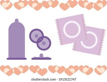 This is an illustration of a condom.