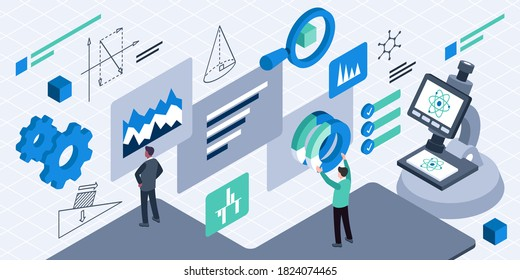 This illustration depict a R&D management, designing and leading processes, managing, organizations, and ensuring smooth transfer of new know-how and technology to other groups or departments involved