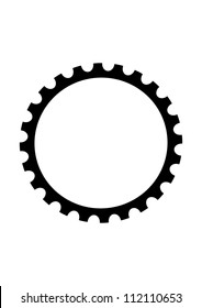 This illustration depicts bicycle gear