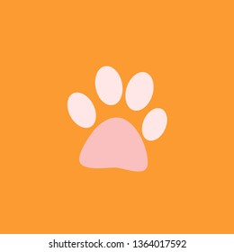 this is a illustration of dog foot this illustration can use for your pet shop or brochure for pet day