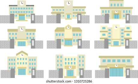 This is an illustration of a Japanese school.