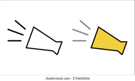 This is an illustration of a megaphone