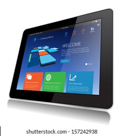 This image represents a Internet Tablet Technology vector. / Tablet Technology / Tablet Technology