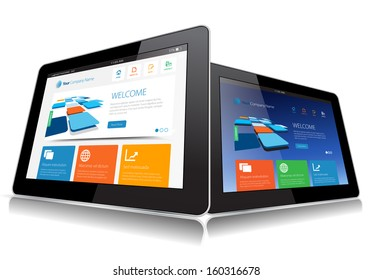 This image represents a Internet Tablet vector./ Vector Tablet / Vector Tablet