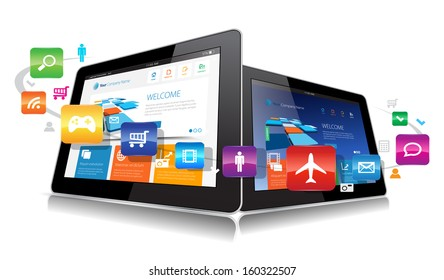 This image represents a Vector Tablet App. / Vector Tablet Apps / Vector Tablet Apps