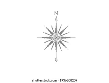 This image is a symbol of a direction vector illustration for example the direction of North, West, South, East and others