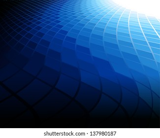 This image is a vector file representing a blue abstract background. / Blue Background / Blue Background