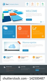 This image is a vector file representing a website template. / Metro Website Template / Metro Website Template