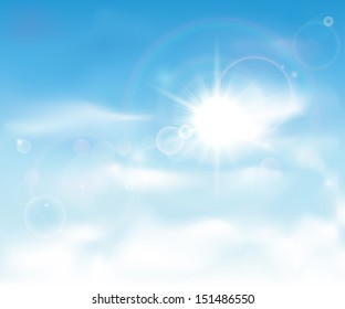 This image is a vector file representing a clear blue sky. / Clear Blue Sky / Clear Blue Sky