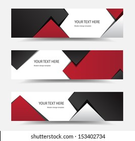 This image is a vector file representing a modern banner set.