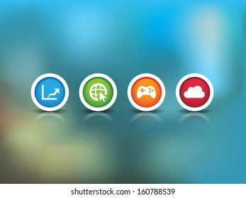 This image is a vector file representing a Technology Background Icons. / Technology Background Icons / Technology Background Icons
