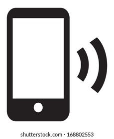 This image is a vector file representing a Smart Phone Wireless Icon App. / Smart Phone Wireless Icon App / Smart Phone Wireless Icon App