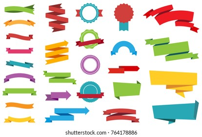 This image is a vector file representing Labels Stickers Banners Tag vector design collection.