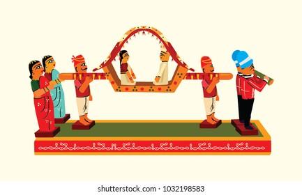 This is Indian Art wedding with pelli pallaki kondapalli toys A Group.