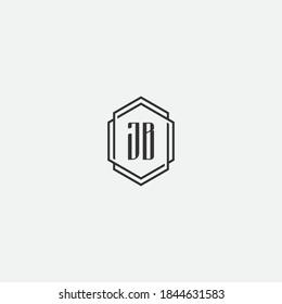 this is letter JB logo design