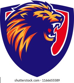 This is a lion head vector, suitable for your e-sport or sport team logo