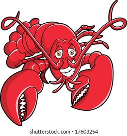 This is a lobster, red and ready.