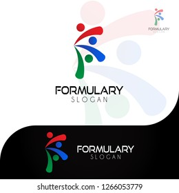 This logo illustrates the letter F. This logo is good for use by companies engaged in the pharmaceutical field or other fields engaged in the manufacture of drugs in the health field.