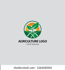 This logo is suitable for the agricultural industry and plant lovers. You can change the color according to your needs.