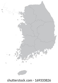 This is a map of South Korea. A simple map.