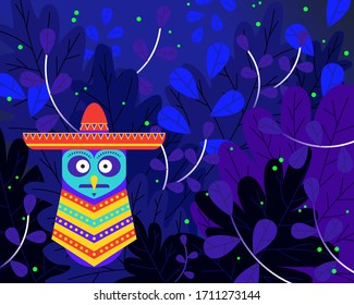 This Mexical Owl shall be your guide into this wonderfull forest during the night