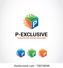 This is a P letter logo used for many purposes and projects.