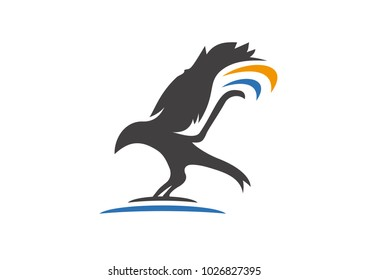 This is a perfect logo of bird for a succesfull bussiness, starting up project and for a company.