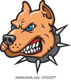 This is a Pit Bull Mascot
