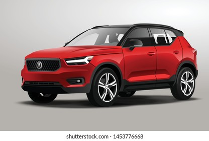 this is a realistic vector SUV