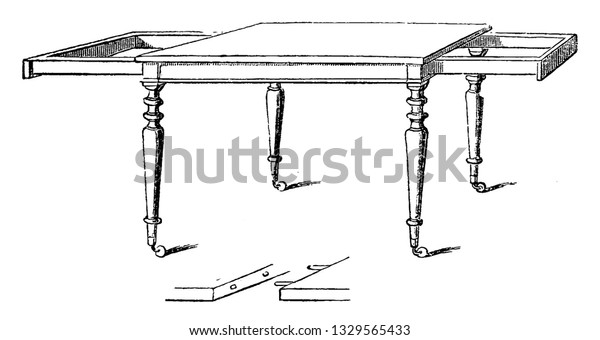 This Representation Showing Simple Table Having Stock Vector