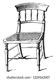 This is the representation showing a type of parlor chair, which is light and durable than the kitchen chair. These are built in beech and are plain Grecian chairs imitated from mahogany, vintage.