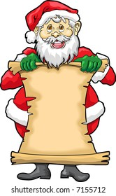 This is Santa with a Blank List.  Use it as a note or as a Christmas List.