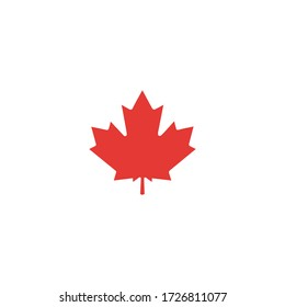 This is set design element for Canada Day first of July. Vector illustration.