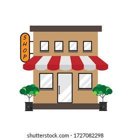 This is a small shop. Marketing concept, Small and Medium Enterprise (SME) concept.