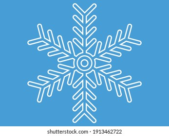 This is a snowflake design with outline