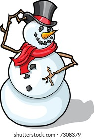 This is a Snowman tipping his Top Hat.